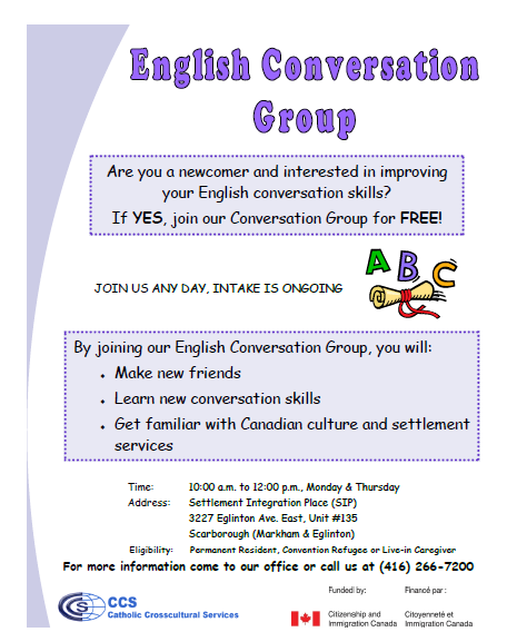 Flyer-English Conversation Group