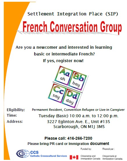 Flyer-French Conversation Group