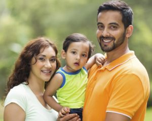 young indian family with the kid